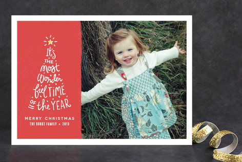 Most Wonderful Time Holiday Photo Cards
