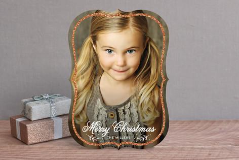 Sparkling Frame Holiday Photo Cards