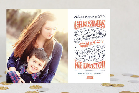Christmas Landscape Holiday Photo Cards