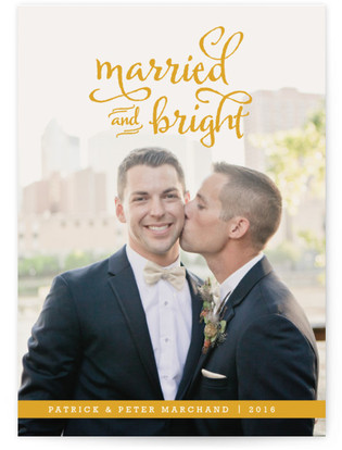 Married and Bright Holiday Photo Cards