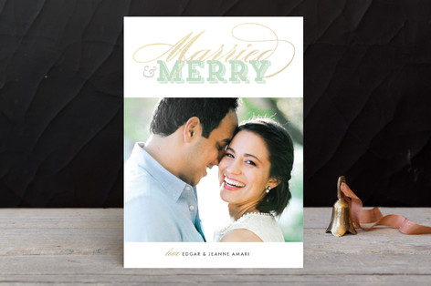 Gilded Type Holiday Photo Cards