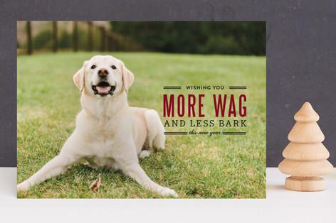 More Wag Less Bark Holiday Photo Cards