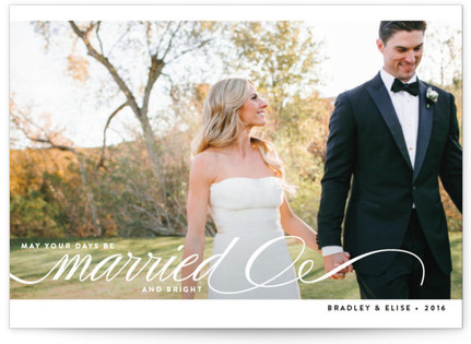 Married + Bright Holiday Photo Cards