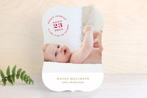 Christmas Baby Holiday Photo Cards