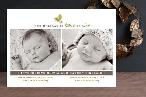 Twice As Nice Holiday Photo Cards
