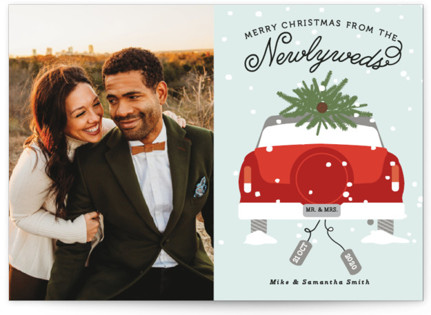 Newlywed Christmas Holiday Photo Cards