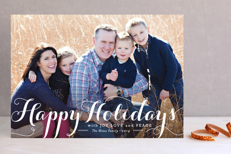 Spirit of Christmas Holiday Photo Cards