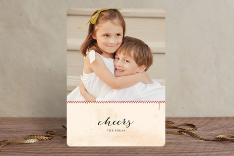 Seams like Christmas Holiday Photo Cards