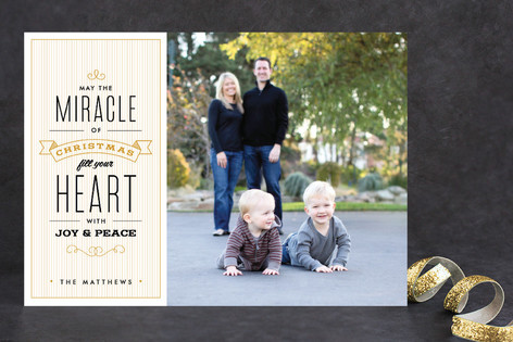 The Miracle of Christmas Holiday Photo Cards