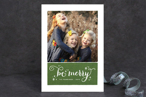 Merry Stars Holiday Photo Cards