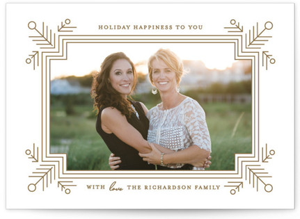 Glimmer Holiday Photo Cards