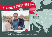 Holiday Map - Europe East Holiday Photo Cards