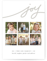 Wispy Joy Holiday Photo Cards