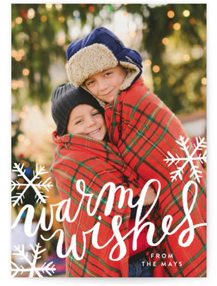 Snowflake Wishes Holiday Photo Cards