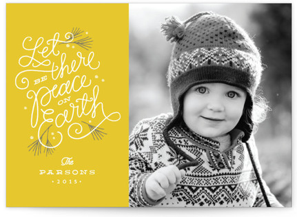 Peaceful Pines Holiday Photo Cards