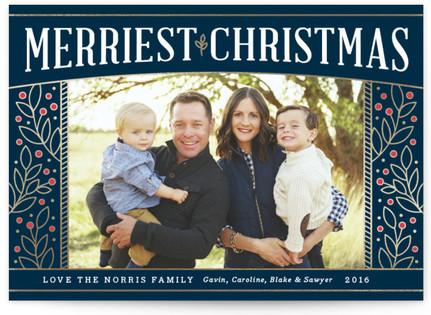 Adorned Frame Holiday Photo Cards