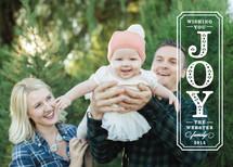 Embellished Joy Holiday Photo Cards