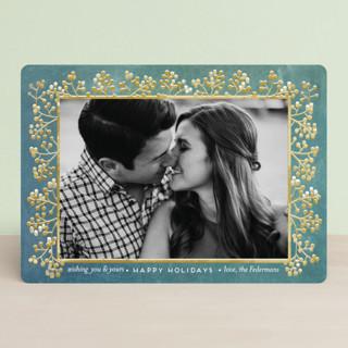 winterberry filigree Holiday Photo Cards