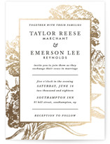 Gilded Bloom Foil-Pressed Wedding Invitation Petite Cards