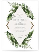 Diamante Foil-Pressed Wedding Invitation Petite Cards