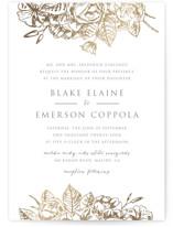 Gilded Wildflowers Foil-Pressed Wedding Invitation Petite Cards