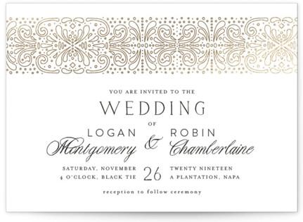 Bond Foil-Pressed Wedding Invitations