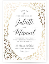Garden Romance Foil-Pressed Wedding Invitations