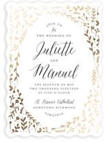 Garden Romance Foil-Pressed Wedding Invitations