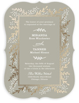 Gilded Branches Foil-Pressed Wedding Invitations