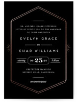 Glam Luxe Foil-Pressed Wedding Invitations