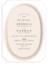 Gold Portrait Foil-Pressed Wedding Invitations