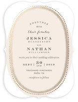 Gold Portrait Foil-Pressed Wedding Invitations