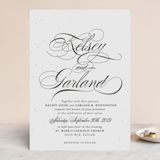 Oh Happy Day Foil-Pressed Wedding Invitations
