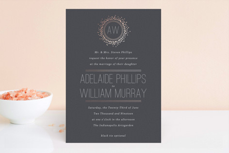 Halo Foil-Pressed Wedding Invitations