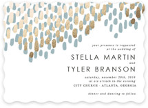 Modern Dash Foil-Pressed Wedding Invitations