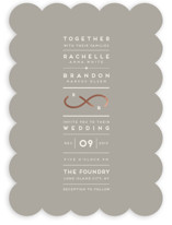 Monogrammed Infinity Foil-Pressed Wedding Invitations