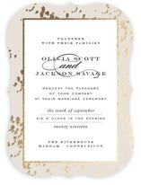 Plunge Foil-Pressed Wedding Invitations