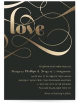 Swirling Romance Foil-Pressed Wedding Invitations
