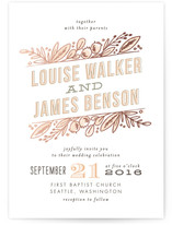 Floral Stack Foil-Pressed Wedding Invitations