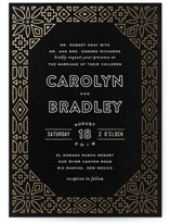 Geometric Border Foil-Pressed Wedding Invitations