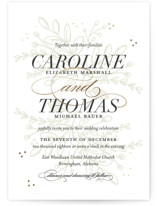 Graceful Foil-Pressed Wedding Invitations