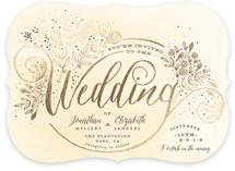 The Wedding Bouquet Foil-Pressed Wedding Invitations