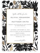 Watercolor Delight Foil-Pressed Wedding Invitations