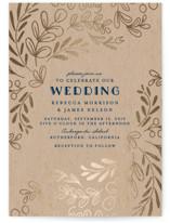 Wedding Vines Foil-Pressed Wedding Invitations