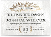 Woodland Romance Foil-Pressed Wedding Invitations