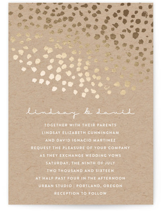 Dappled Foil-Pressed Wedding Invitations