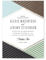 Overlap Foil-Pressed Wedding Invitations