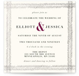 Casual Herringbone Foil-Pressed Wedding Invitations