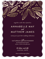 Belle Foil-Pressed Wedding Invitations