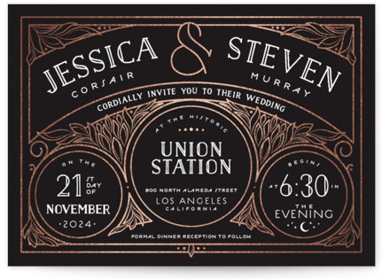 Biltmore Foil-Pressed Wedding Invitations